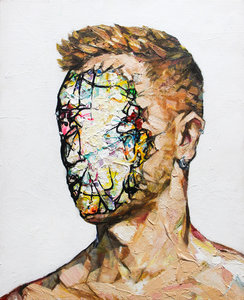 Unattributed Jordi Machí Painting Acrylic, Collage on Wood