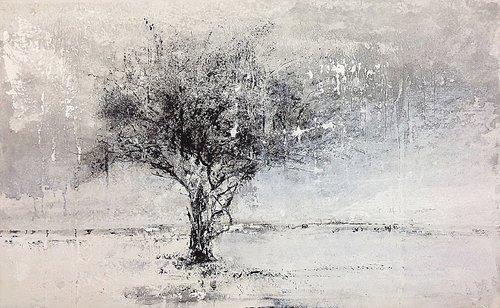 Altrove von Claudio Missagia (2018): Malerei Acryl, Kohle, Farbstift ...