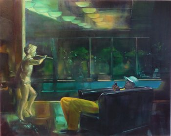 Muse John Devane Malerei Öl auf Leinwand