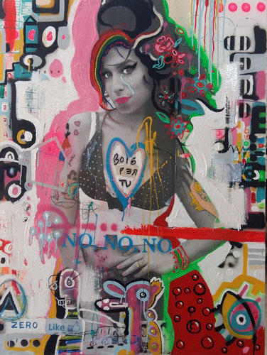 AMY (Boig per tu) Xavier García Painting Oil on Fabric