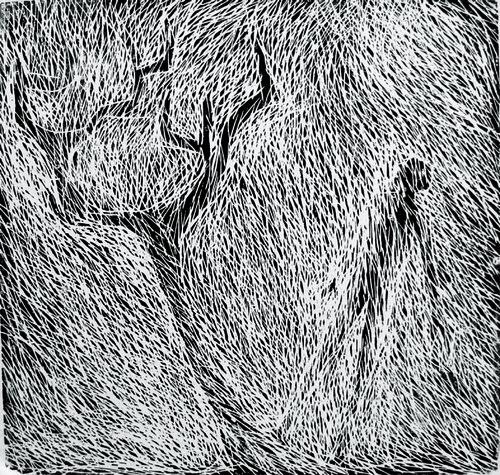 Baum und Mensch H.D. Gölzenleuchter Druck Hochdruck auf Leinwand