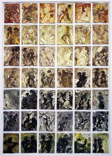 Sinnliche Begegnung IV H.D. Gölzenleuchter Malerei Öl auf Leinwand