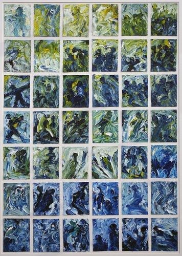 Sinnliche Begegnung I H.D. Gölzenleuchter Malerei Öl auf Leinwand