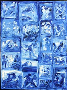 Lebensbühnen I H.D. Gölzenleuchter Malerei Öl auf Leinwand