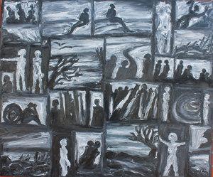 Melancholie H.D. Gölzenleuchter Malerei Öl auf Leinwand