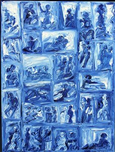 Lebensbühnen II H.D. Gölzenleuchter Malerei Öl auf Leinwand