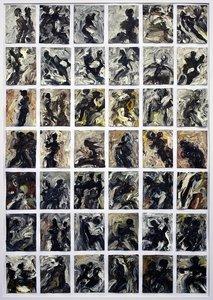 Sinnliche Begegnung V H.D. Gölzenleuchter Malerei Öl auf Leinwand