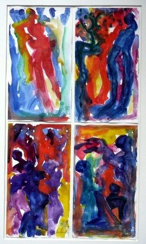 Traumbilder I H.D. Gölzenleuchter Malerei Aquarell auf Papier