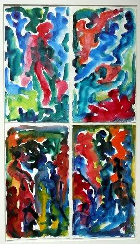 Traumbilder II H.D. Gölzenleuchter Malerei Aquarell auf Papier