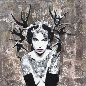 HUNTRESS Christoph Fuhrken Painting Acrylic, Collage, Graffiti, Spray paint on Canvas