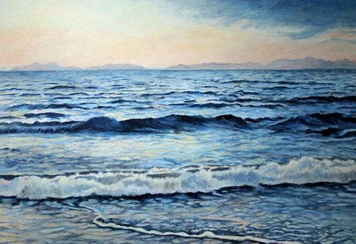 Blue Anke Gruss Malerei Öl auf Leinwand