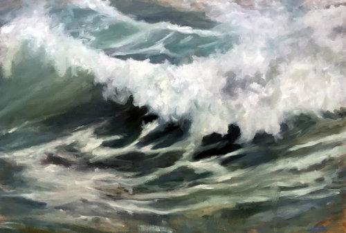Welle 23 Anke Gruss Malerei Öl auf Leinwand