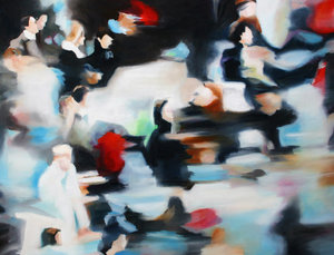 dots Anke Gruss Malerei Öl auf Leinwand