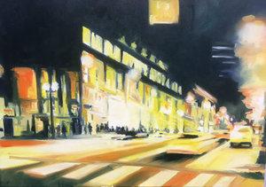 Streetlight V Anke Gruss Malerei Acryl, Öl auf Leinwand
