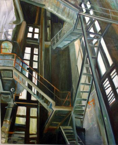 Innen Anke Gruss Malerei Acryl, Öl auf Leinwand