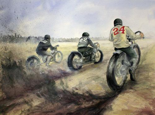 race IV Anke Gruss Malerei Aquarell auf Papier
