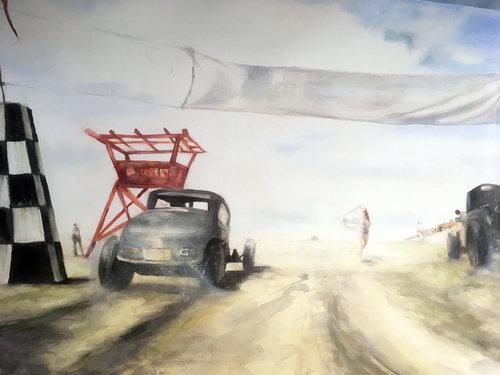 race III Anke Gruss Malerei Aquarell auf Papier