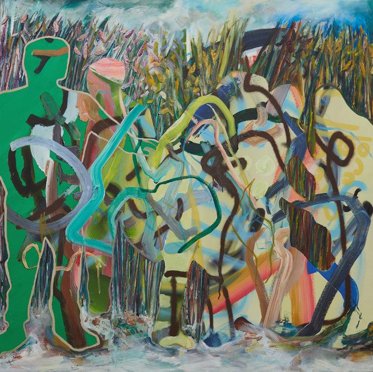 Catcher in the Rye von Patrick Simkins (2015): Malerei Öl, Farbspray ...