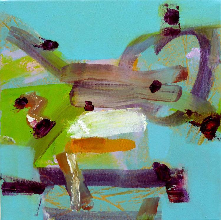Monkey Niamh Collins Malerei Öl auf Leinwand