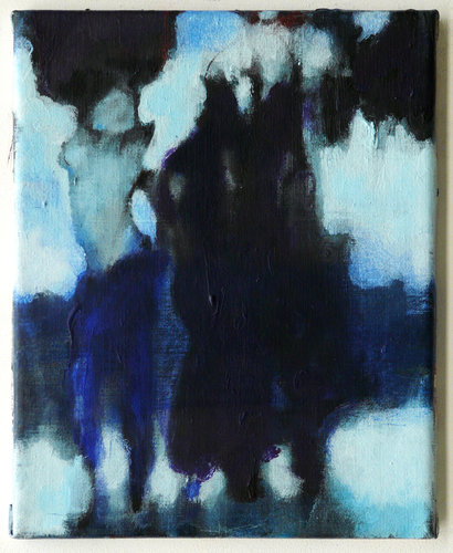 The three black stars falling: Imaginary friends making my mind up Vladimir Hristov Painting Acrylic on Canvas