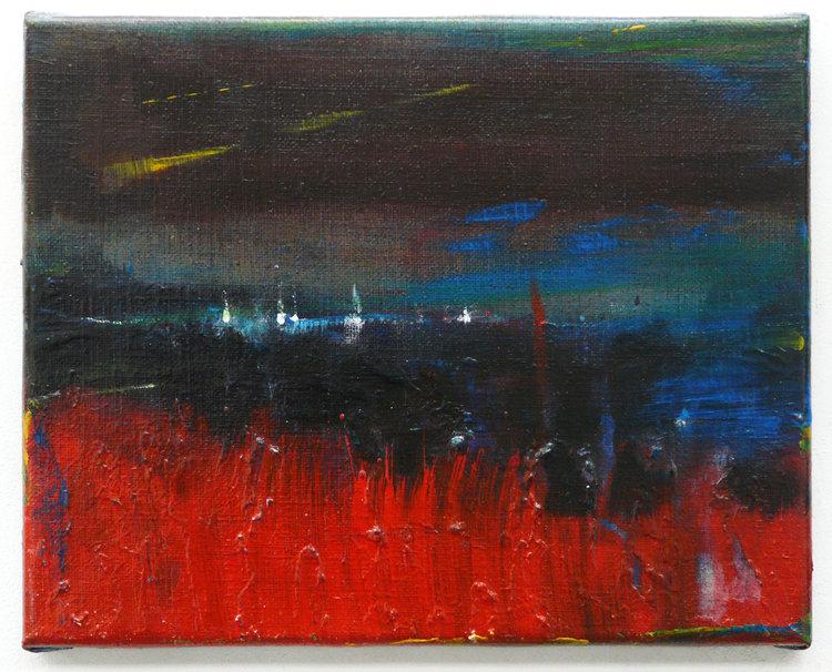 Freezing landscape Vladimir Hristov Painting Acrylic on Canvas