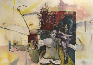 Production Line- Damaged Goods Vladimir Hristov Painting Acrylic, Oil, Chalk on Canvas