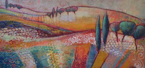 Terres d'ocres 2 Elisabeth Coudol Malerei Acryl auf Leinwand