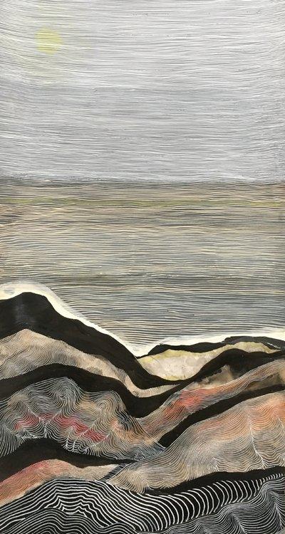 Beijing Mountain - Noon Sara Willett Oeuvre sur papier Aquarelle