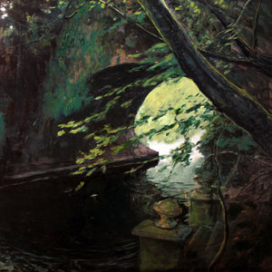 Archway and Steps Russell Gilder Painting Oil on Wood