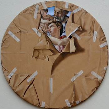 Furto d'autore Fabio Inverni Peinture Huile sur Toile