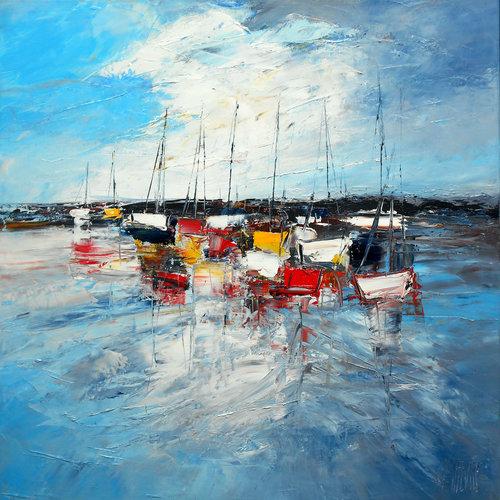 Bord de mer de Michaël Lefèvre (2017) : Peinture Huile sur Toile ...