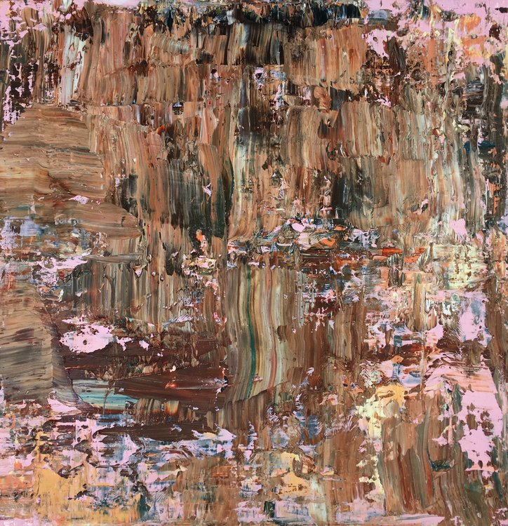 Borderland Peggy Cozzi Malerei Öl auf Leinwand