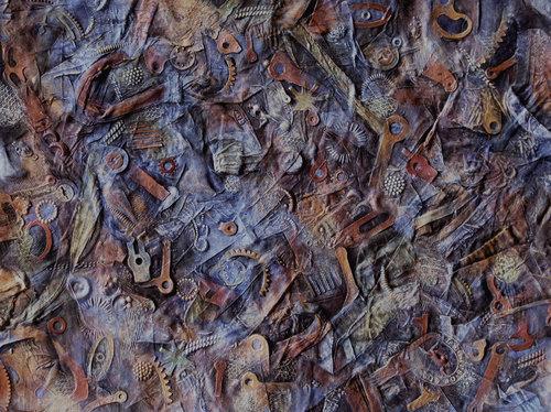 Particles David Gould Peinture Acrylique, Aquarelle, Gouache, Crayon de couleur sur Papier