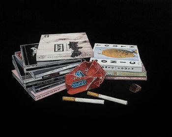 Sesso Droga e Rock'n'Roll Simone Fazio Peinture Huile sur Toile