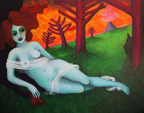 Mañque Claudia Yates Peinture Acrylique sur Toile