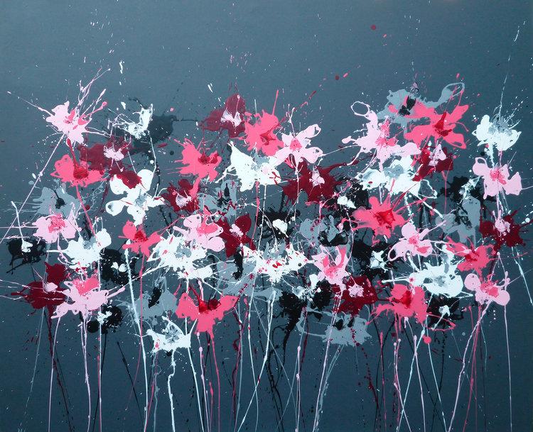 Grey Isabelle Pelletane Peinture Acrylique sur Toile