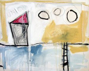 UNION OF THE POEPLE Hari Beierl Malerei Öl, Kreide auf Leinwand