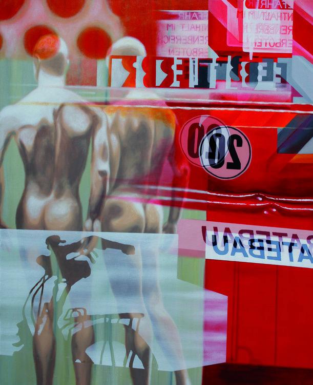 m092 Rolf Löhrmann Peinture Acrylique sur Toile