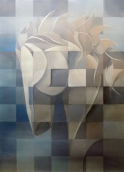 Horse in Motion II Peter Pitout Painting Oil, Graphite on Canvas