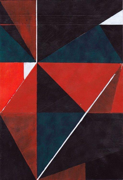 Untitled (5) 2015 Richard Caldicott Oeuvre sur papier Acrylique