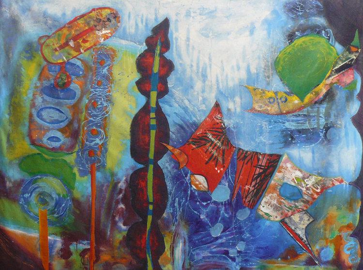 Conversation Sauvage 12 De Véronique Egloff 2015 Peinture