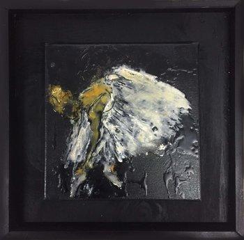 OMAGGIO A DEGAS 2 Giusy Lauriola Painting Acrylic, Spray paint, Enamel, Resin on Canvas
