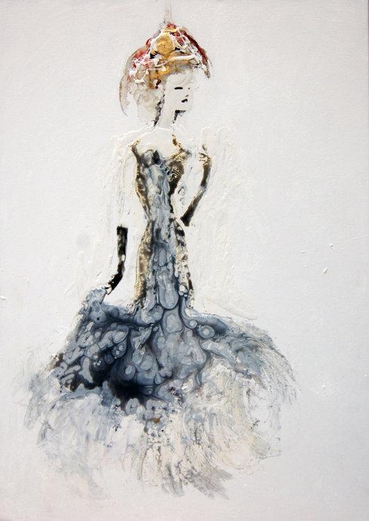 Donna Claudia De Giusy Lauriola 2017 Peinture Acrylique Aérosol