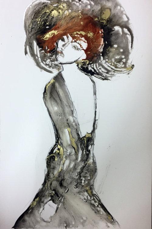 Sakina De Giusy Lauriola 2018 Peinture Acrylique Aérosol émail