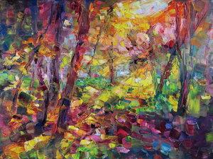 Golden hour III Marta Lipowska Malerei Öl auf Leinwand