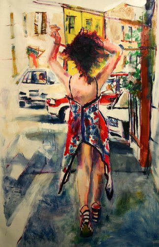 Made in Italy Chiara Abbaticchio Painting Oil on Canvas