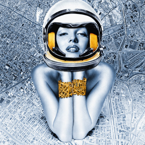 Marilyn in Space Anyes Galleani Photography Digital, Hybrid on Paper