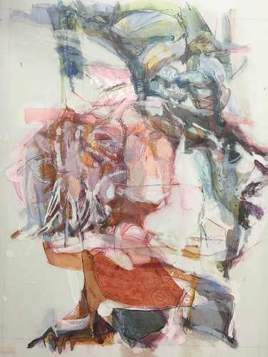 Evanescence 2 Kayo Albert Painting Colored pencil, Tempera, Ink on Wood