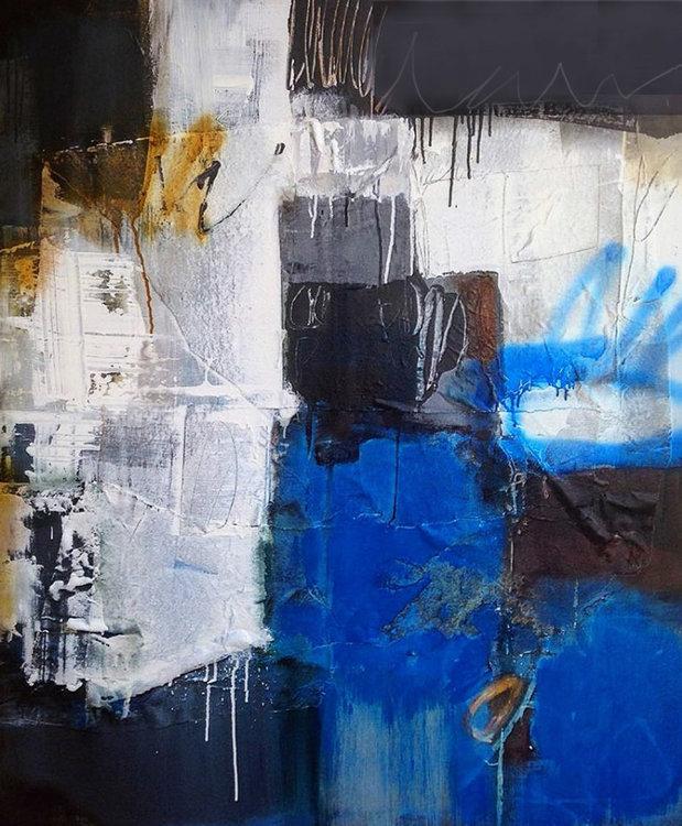 Amores Azules De Francisco Postlethwaite 2018 Peinture Acrylique