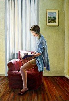 Poltrona rossa Paolo Terdich Pittura Olio su Tela
